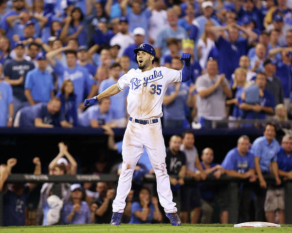 Playoffs Poster featuring the photograph Eric Hosmer by Ed Zurga