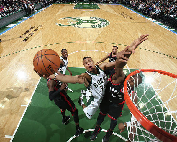 Playoffs Poster featuring the photograph Giannis Antetokounmpo by Nathaniel S. Butler