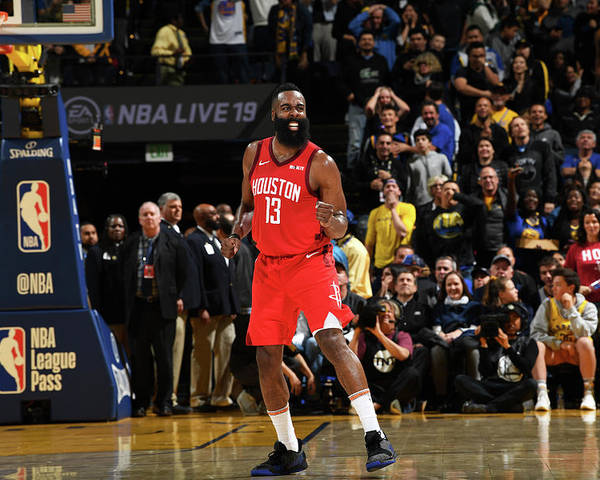 Nba Pro Basketball Poster featuring the photograph James Harden by Noah Graham