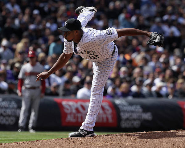 Baseball Pitcher Poster featuring the photograph Juan Nicasio by Doug Pensinger