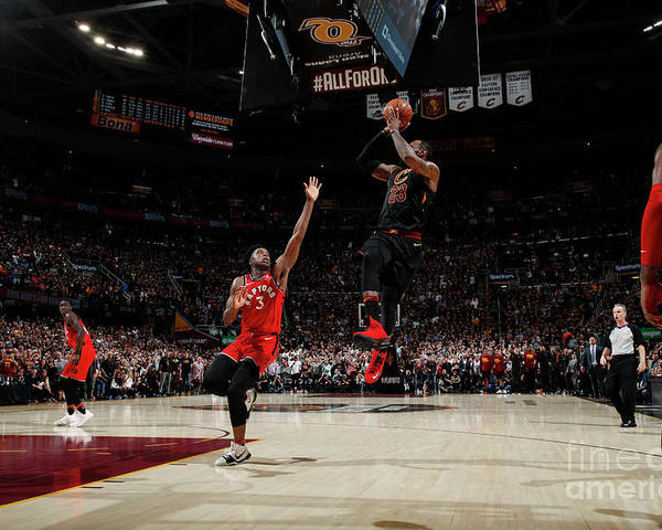 Playoffs Poster featuring the photograph Lebron James by Jeff Haynes