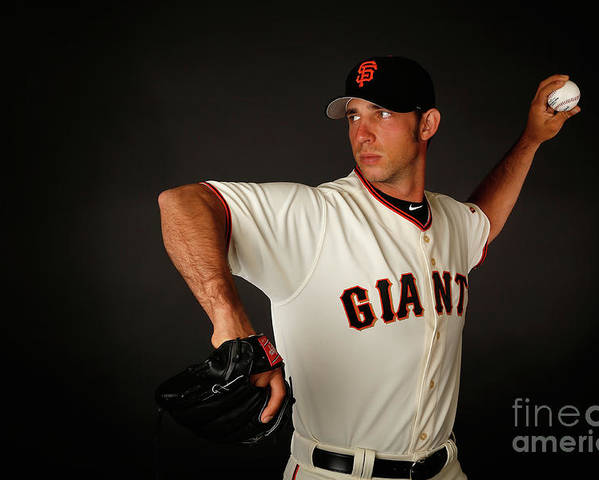 Media Day Poster featuring the photograph Madison Bumgarner by Christian Petersen