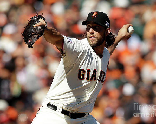 San Francisco Poster featuring the photograph Madison Bumgarner by Ezra Shaw