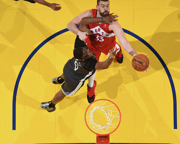 Playoffs Poster featuring the photograph Marc Gasol by Andrew D. Bernstein
