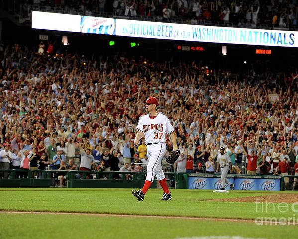 Stephen Strasburg Poster featuring the photograph Stephen Strasburg by Greg Fiume