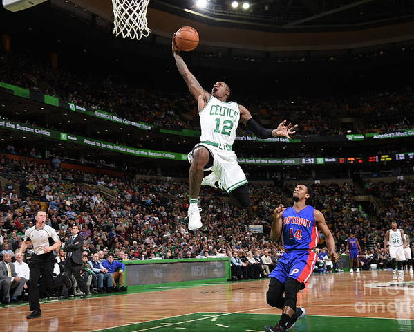 Nba Pro Basketball Poster featuring the photograph Terry Rozier by Brian Babineau