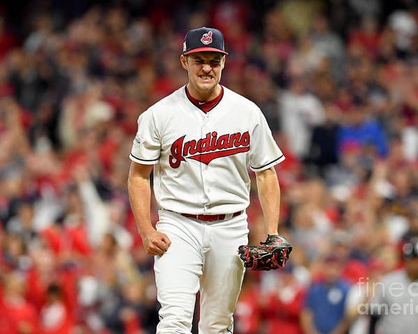 Three Quarter Length Poster featuring the photograph Trevor Bauer by Jason Miller