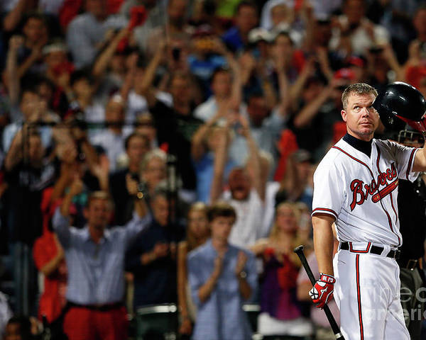 Atlanta Poster featuring the photograph Chipper Jones by Kevin C. Cox