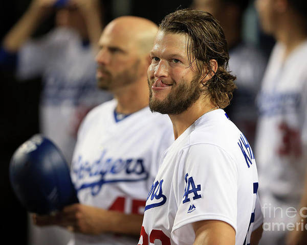 People Poster featuring the photograph Clayton Kershaw by Sean M. Haffey
