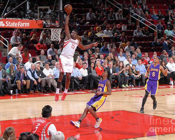 Nba Pro Basketball Poster featuring the photograph Clint Capela by Bill Baptist