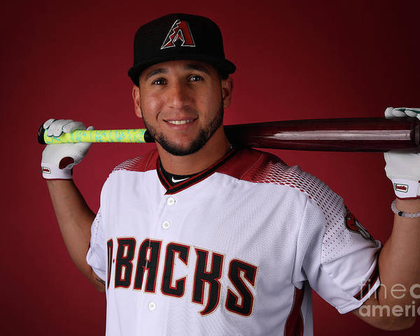 Media Day Poster featuring the photograph David Peralta by Christian Petersen