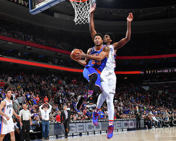 Nba Pro Basketball Poster featuring the photograph Derrick Rose by Jesse D. Garrabrant