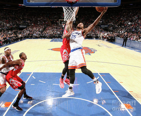 Nba Pro Basketball Poster featuring the photograph Derrick Rose by Nathaniel S. Butler