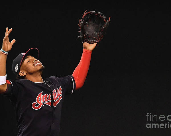 Game Two Poster featuring the photograph Francisco Lindor by Jason Miller