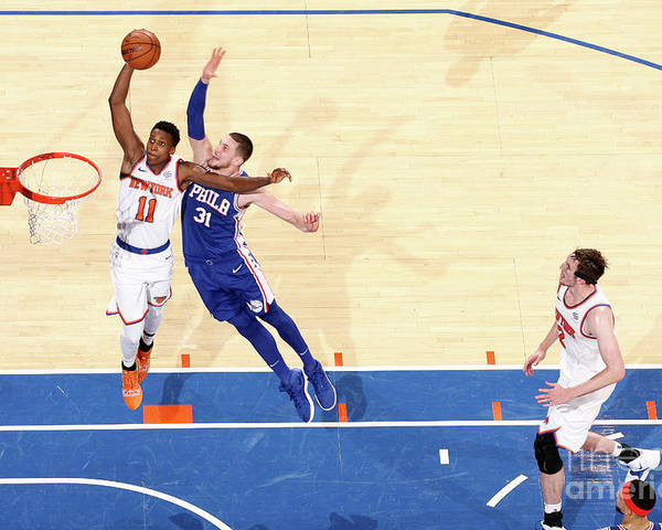Nba Pro Basketball Poster featuring the photograph Frank Ntilikina by Nathaniel S. Butler