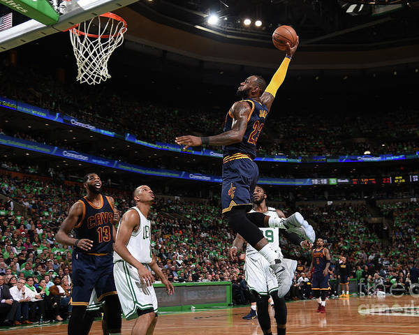 Playoffs Poster featuring the photograph Lebron James by Brian Babineau