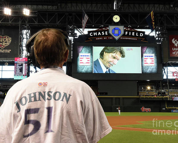 People Poster featuring the photograph Randy Johnson by Norm Hall