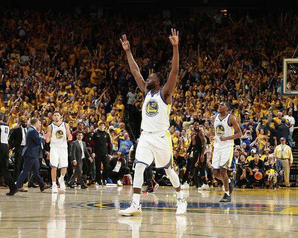 Playoffs Poster featuring the photograph Draymond Green by Nathaniel S. Butler