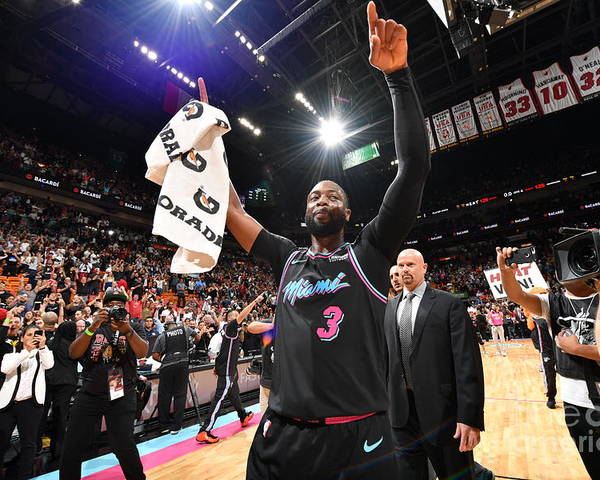 Nba Pro Basketball Poster featuring the photograph Dwyane Wade by Jesse D. Garrabrant