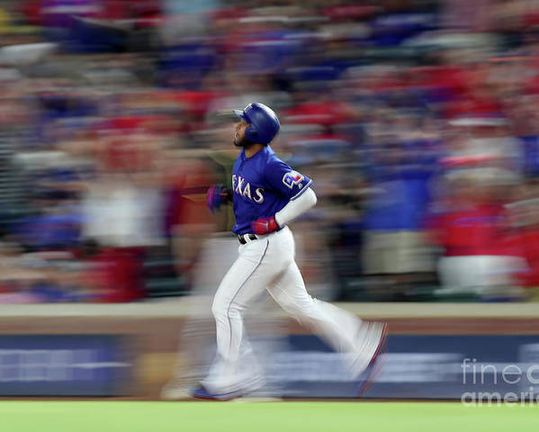People Poster featuring the photograph Elvis Andrus by Tom Pennington