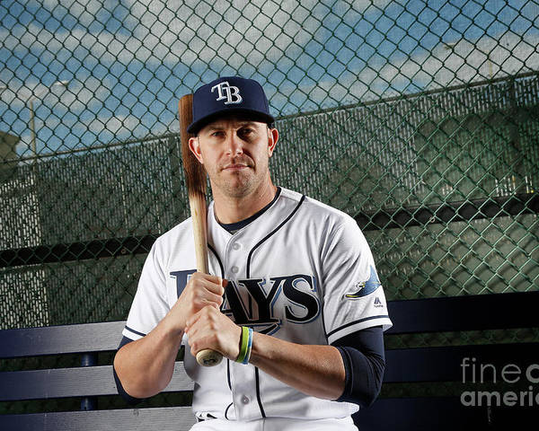 Media Day Poster featuring the photograph Evan Longoria by Brian Blanco