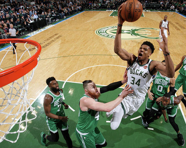 Playoffs Poster featuring the photograph Giannis Antetokounmpo by Gary Dineen