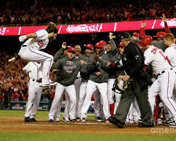 Playoffs Poster featuring the photograph Jayson Werth by Rob Carr