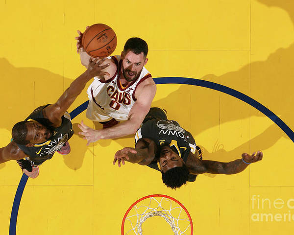 Playoffs Poster featuring the photograph Kevin Love by Nathaniel S. Butler