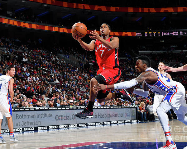 Nba Pro Basketball Poster featuring the photograph Kyle Lowry by Jesse D. Garrabrant