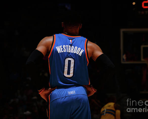 Nba Pro Basketball Poster featuring the photograph Russell Westbrook by Bart Young