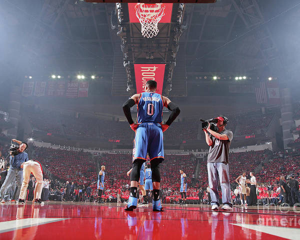 Playoffs Poster featuring the photograph Russell Westbrook by Nathaniel S. Butler
