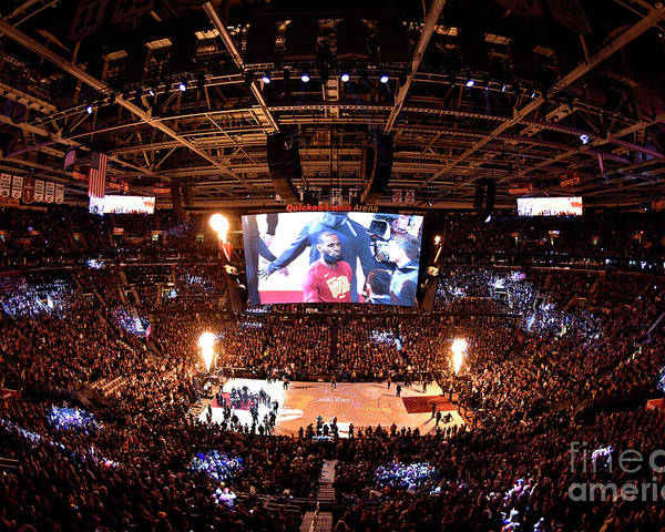 Playoffs Poster featuring the photograph Lebron James by David Liam Kyle