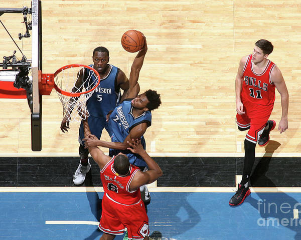 Nba Pro Basketball Poster featuring the photograph Andrew Wiggins by David Sherman
