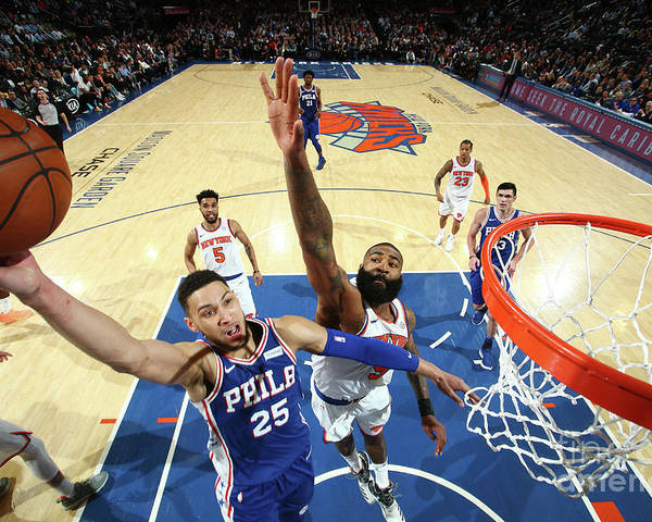 Sports Ball Poster featuring the photograph Ben Simmons by Nathaniel S. Butler