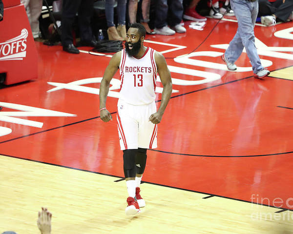 Playoffs Poster featuring the photograph James Harden by Nathaniel S. Butler