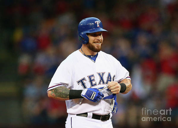 Second Inning Poster featuring the photograph Josh Hamilton by Ronald Martinez