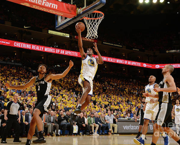 Playoffs Poster featuring the photograph Kevon Looney by Noah Graham