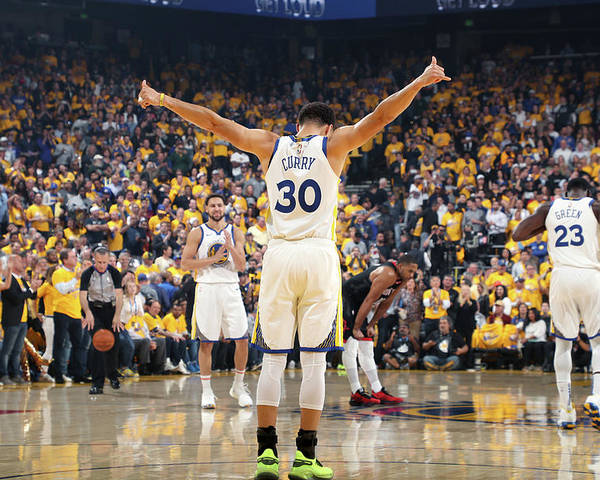 Playoffs Poster featuring the photograph Stephen Curry by Joe Murphy