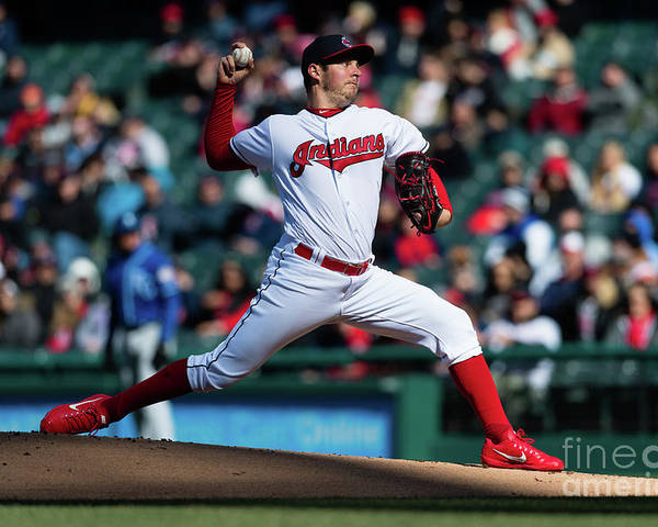 People Poster featuring the photograph Trevor Bauer by Jason Miller