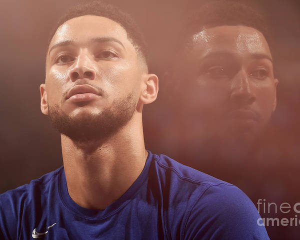Playoffs Poster featuring the photograph Ben Simmons by David Dow