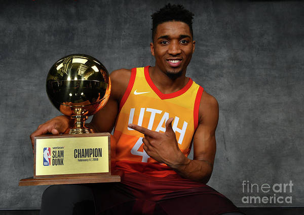 Nba Pro Basketball Poster featuring the photograph Donovan Mitchell by Jesse D. Garrabrant