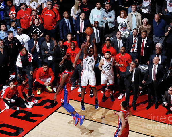 Playoffs Poster featuring the photograph Kawhi Leonard by Mark Blinch