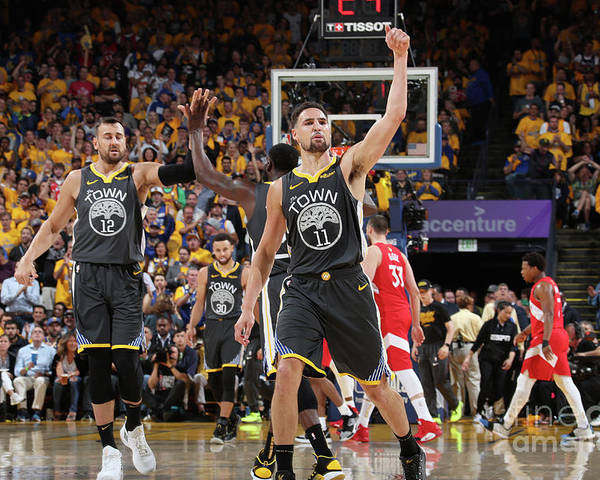 Playoffs Poster featuring the photograph Klay Thompson by Nathaniel S. Butler