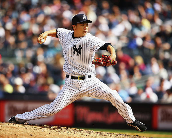 American League Baseball Poster featuring the photograph Masahiro Tanaka by Al Bello