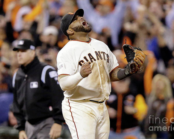 Playoffs Poster featuring the photograph Pablo Sandoval by Ezra Shaw