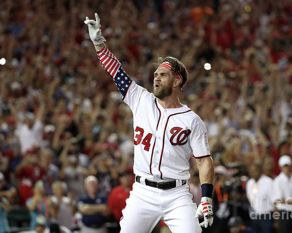 Three Quarter Length Poster featuring the photograph Bryce Harper by Patrick Smith