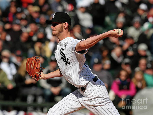 American League Baseball Poster featuring the photograph Chris Sale by Jonathan Daniel
