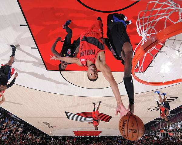 Nba Pro Basketball Poster featuring the photograph C.j. Mccollum by Sam Forencich