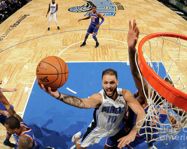 Nba Pro Basketball Poster featuring the photograph Evan Fournier by Fernando Medina