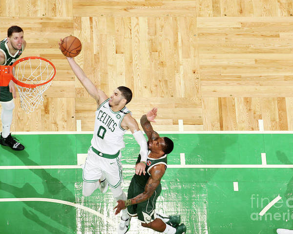 Playoffs Poster featuring the photograph Jayson Tatum by Nathaniel S. Butler